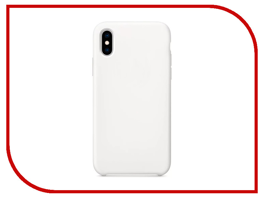 Аксессуар Чехол APPLE iPhone XS Silicone Case White MRW82ZM/A цена и фото