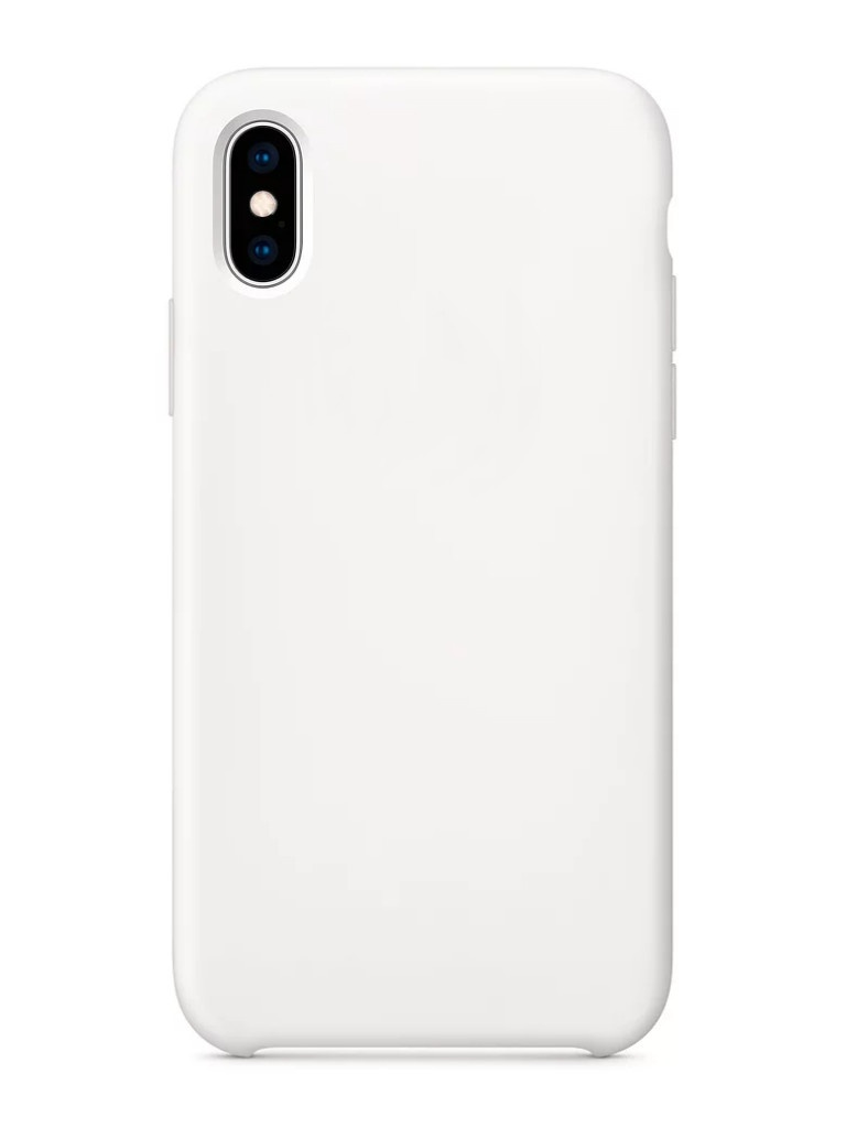 Аксессуар Чехол APPLE iPhone XS Silicone Case White MRW82ZM/A