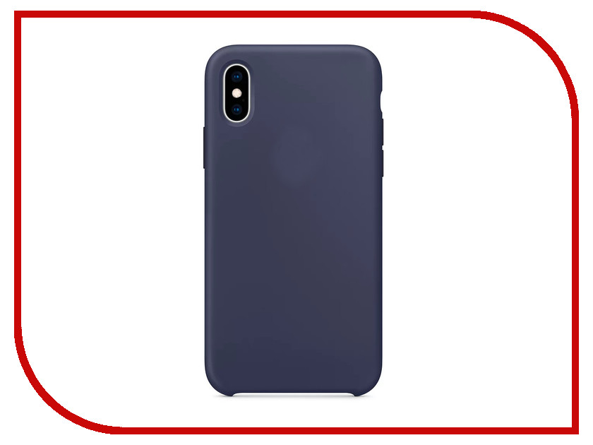 Аксессуар Чехол APPLE iPhone XS Silicone Case Midnight Blue MRW92ZM/A аксессуар чехол apple iphone 7 8 leather case midnight blue mqh82zm a