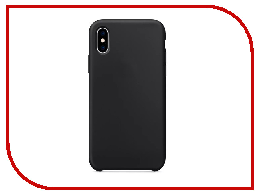Аксессуар Чехол APPLE iPhone XS Max Silicone Case Black MRWE2ZM/A glare free screen protector with cleaning cloth for iphone 3g