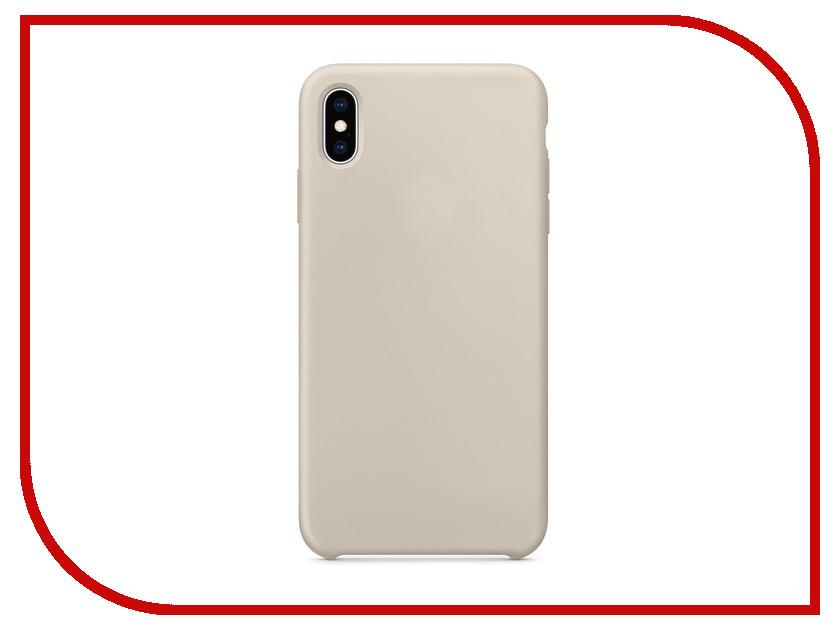 Аксессуар Чехол APPLE iPhone XS Max Silicone Case Stone MRWJ2ZM/A аксессуар чехол apple iphone xs leather case black mrwm2zm a