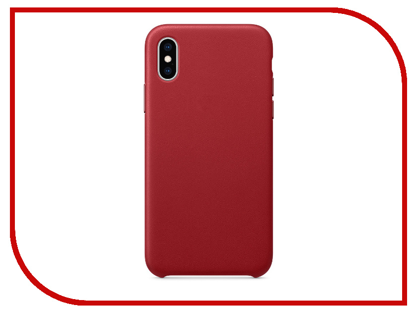 Аксессуар Чехол APPLE iPhone XS Leather Case Product Red MRWK2ZM/A аксессуар чехол apple iphone x leather case electric blue mrgg2zm a