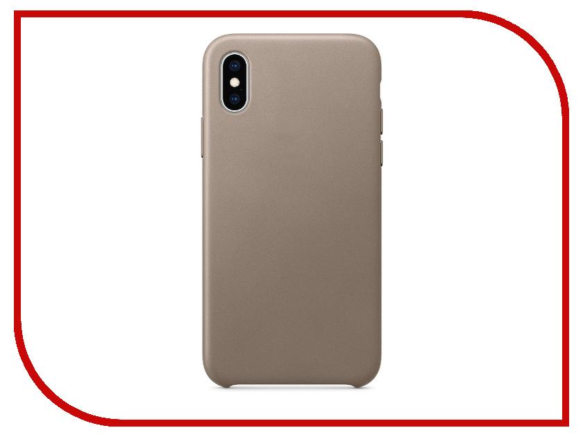 Аксессуар Чехол APPLE iPhone XS Leather Case Taupe MRWL2ZM/A сумка shopper xs baroque taupe