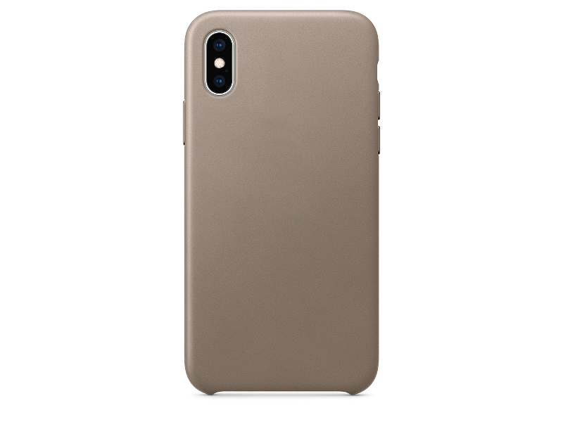 Аксессуар Чехол APPLE iPhone XS Leather Case Taupe MRWL2ZM/A