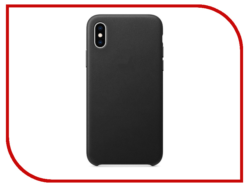 Аксессуар Чехол APPLE iPhone XS Leather Case Black MRWM2ZM/A аксессуар чехол apple iphone xs leather case black mrwm2zm a