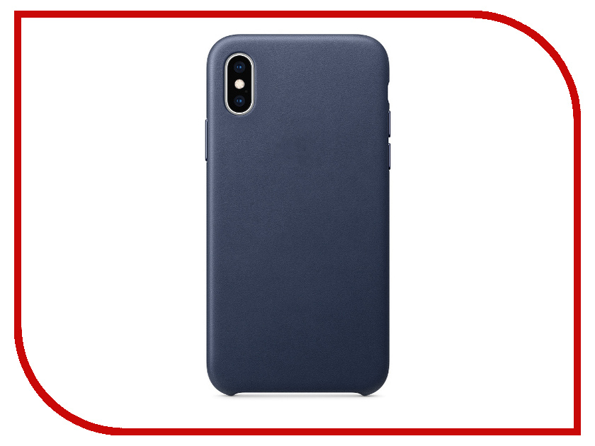 Аксессуар Чехол APPLE iPhone XS Leather Case Midnight Blue MRWN2ZM/A аксессуар чехол apple iphone 7 8 leather case midnight blue mqh82zm a