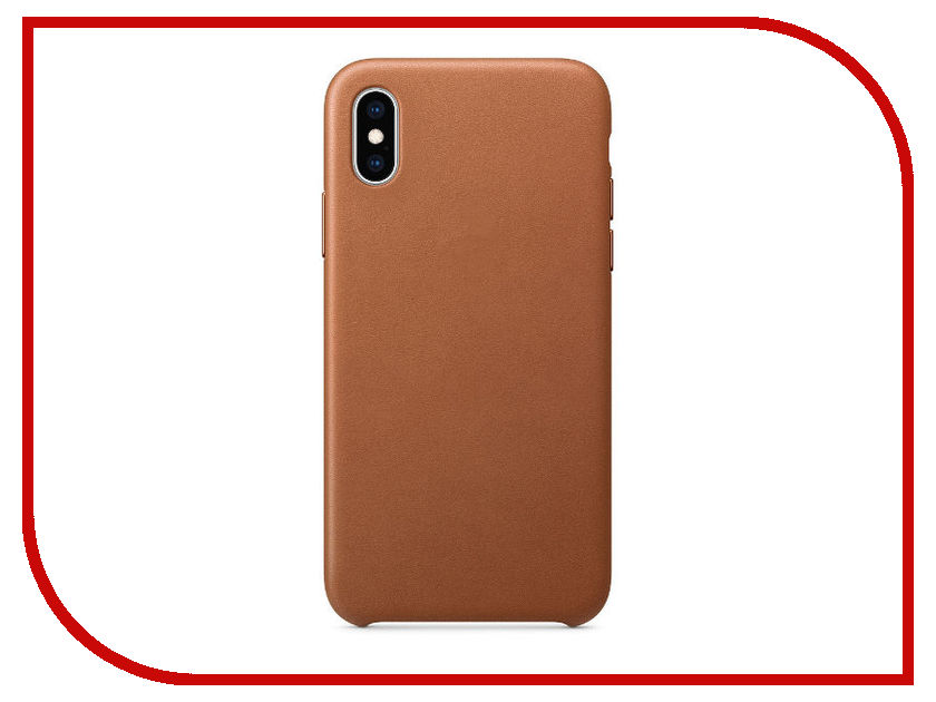 все цены на Аксессуар Чехол APPLE iPhone XS Leather Case Saddle Brown MRWP2ZM/A онлайн