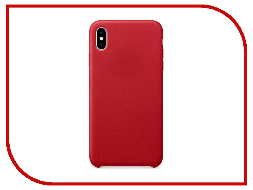 Аксессуар Чехол APPLE iPhone XS Max Leather Case Product Red MRWQ2ZM/A чехол для apple iphone 8 7 silicone case white