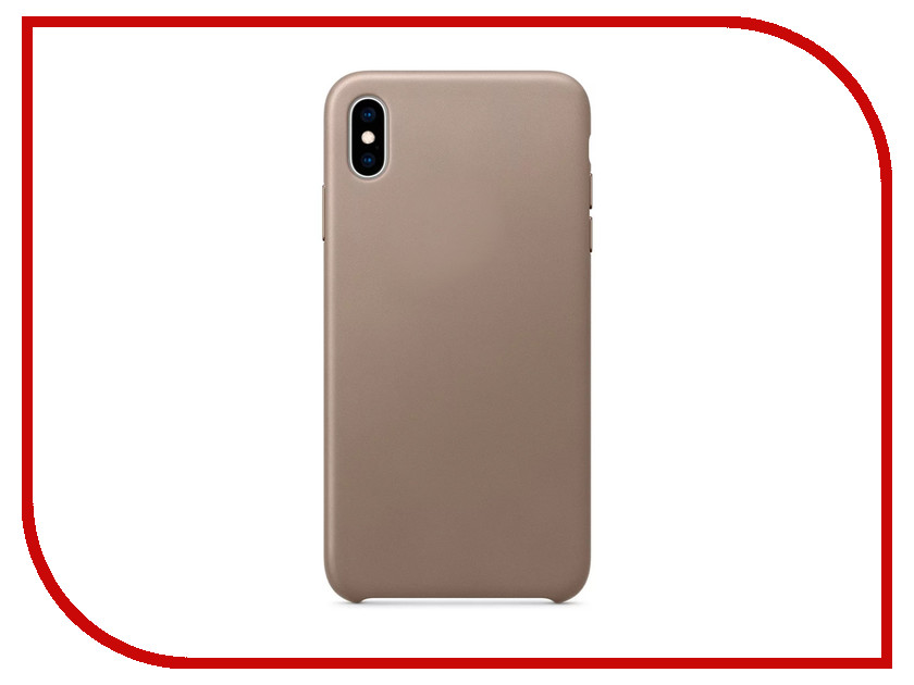 Аксессуар Чехол APPLE iPhone XS Max Leather Case Taupe MRWR2ZM/A чехол для apple iphone 8 7 leather case taupe