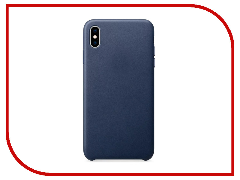 Аксессуар Чехол APPLE iPhone XS Max Leather Case Midnight Blue MRWU2ZM/A аксессуар чехол apple iphone 7 8 leather case midnight blue mqh82zm a