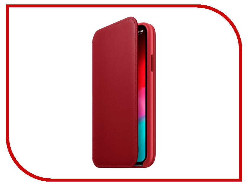 Аксессуар Чехол APPLE iPhone XS Leather Folio Product Red MRWX2ZM/A стилус iphone ipad