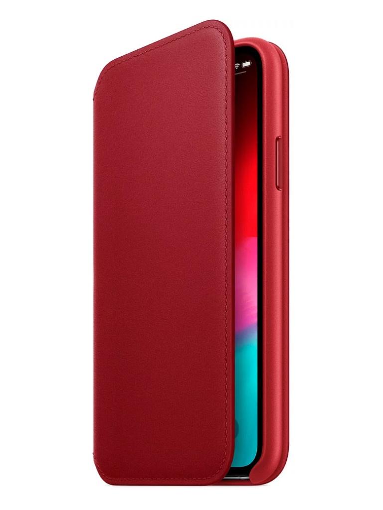 Аксессуар Чехол APPLE iPhone XS Leather Folio Product Red MRWX2ZM/A аксессуар чехол apple iphone x leather case product red mqte2zm a