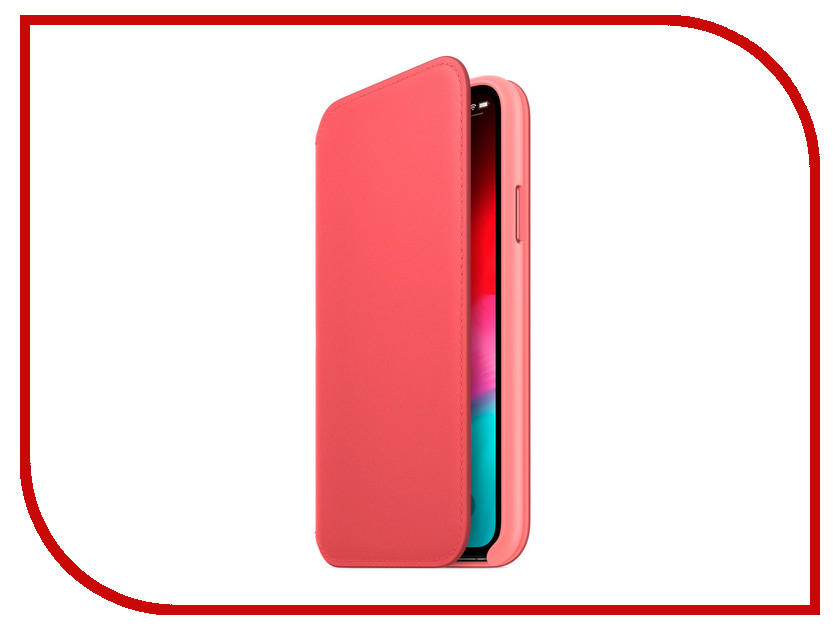 Аксессуар Чехол APPLE iPhone XS Leather Folio Peony Pink MRX12ZM/A new 2 fold folio pu leather stand cover case for onda v10 3g 4g call phone 10 1inch tablet pc black and white color gift