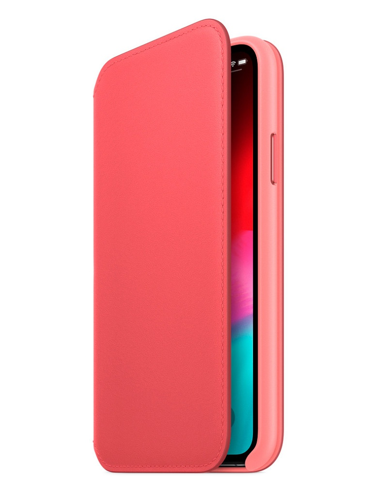Аксессуар Чехол APPLE iPhone XS Leather Folio Peony Pink MRX12ZM/A