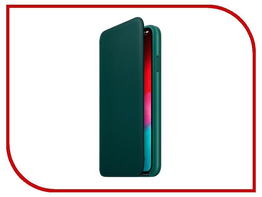 Аксессуар Чехол APPLE iPhone XS Max Leather Folio Forest Green MRX42ZM/A gangxun blackview a8 max корпус высокого качества кожа pu флип чехол kickstand anti shock кошелек для blackview a8 max