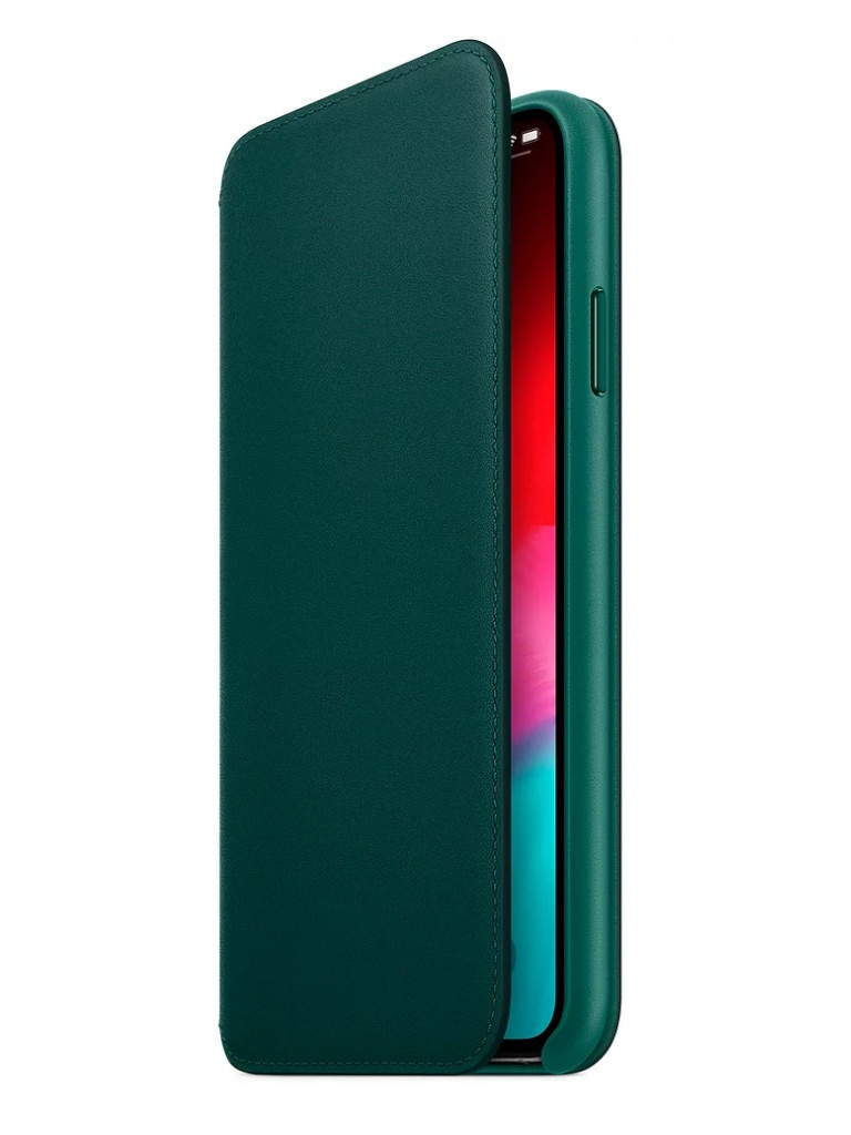 Чехол APPLE iPhone XS Max Leather Folio Forest Green MRX42ZM/A