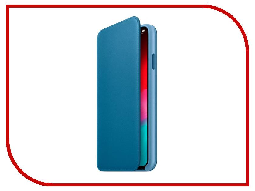 Фото - Аксессуар Чехол APPLE iPhone XS Max Leather Folio Cape Cod Blue MRX52ZM/A чехол для iphone apple iphone x leather folio electric blue