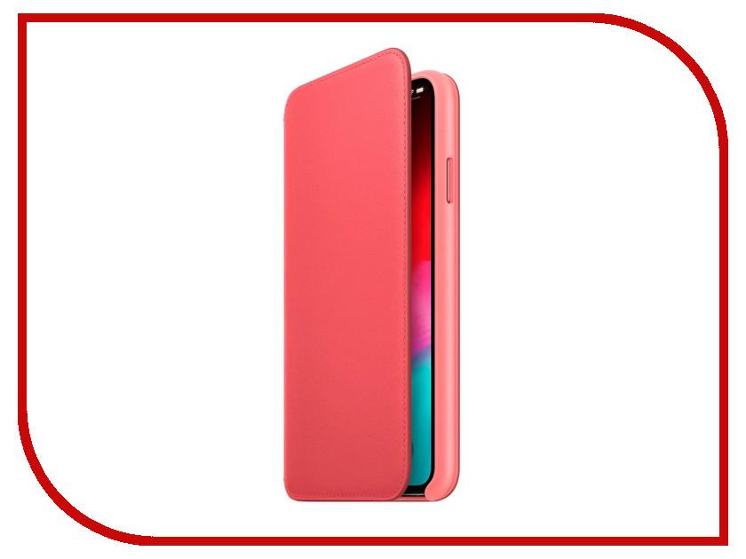 Аксессуар Чехол APPLE iPhone XS Max Leather Folio Peony Pink MRX62ZM/A сотовый телефон apple iphone xs max 64gb space grey mt502ru a