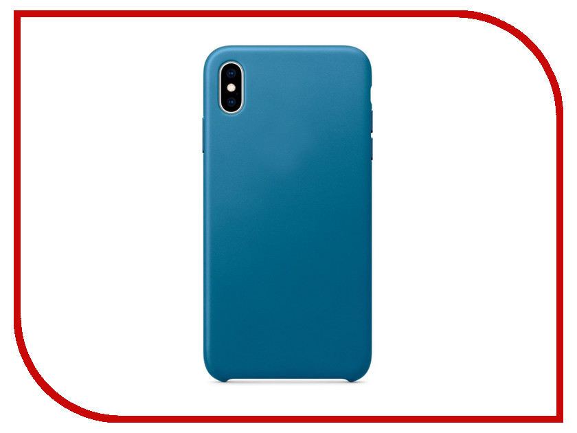 все цены на Аксессуар Чехол APPLE iPhone XS Max Leather Case Cape Cod Blue MTEW2ZM/A онлайн
