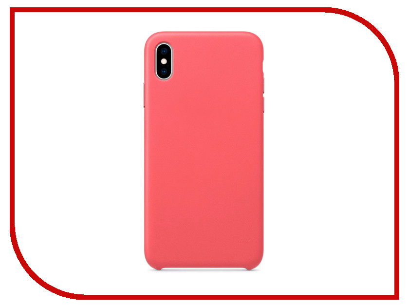 все цены на Аксессуар Чехол APPLE iPhone XS Max Leather Case Peony Pink MTEX2ZM/A онлайн