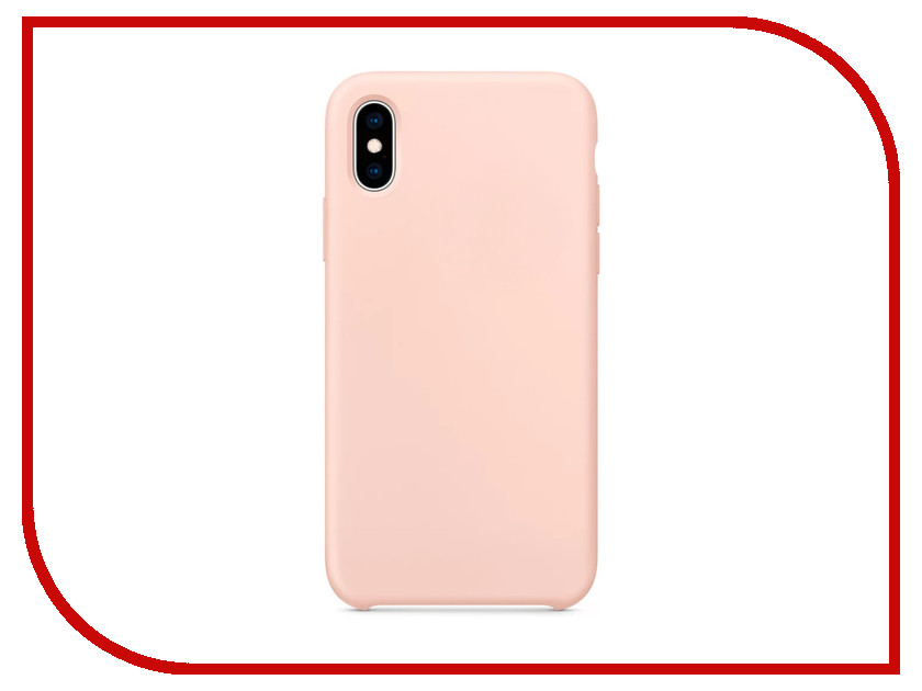 Аксессуар Чехол APPLE iPhone XS Silicone Case Pink Sand MTF82ZM/A protective silicone back case for iphone 5c deep pink
