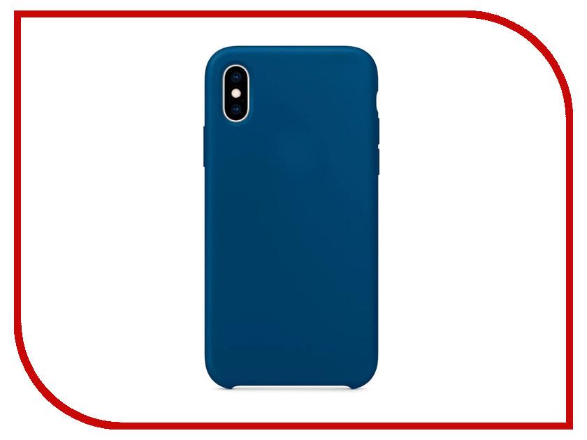 купить Аксессуар Чехол APPLE iPhone XS Silicone Case Blue Horizon MTF92ZM/A по цене 2698 рублей
