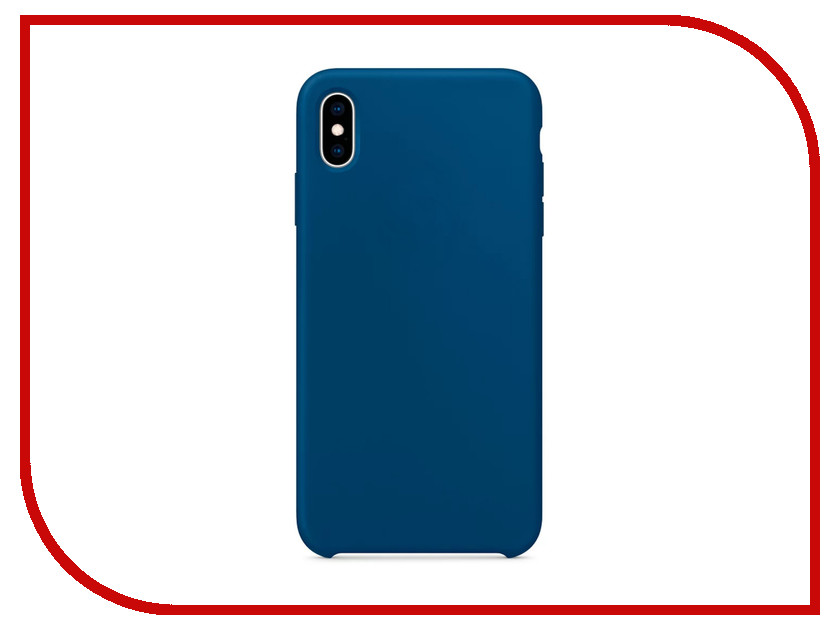 Аксессуар Чехол APPLE iPhone XS Max Silicone Case Blue Horizon MTFE2ZM/A аксессуар чехол apple iphone xs max leather case midnight blue mrwu2zm a