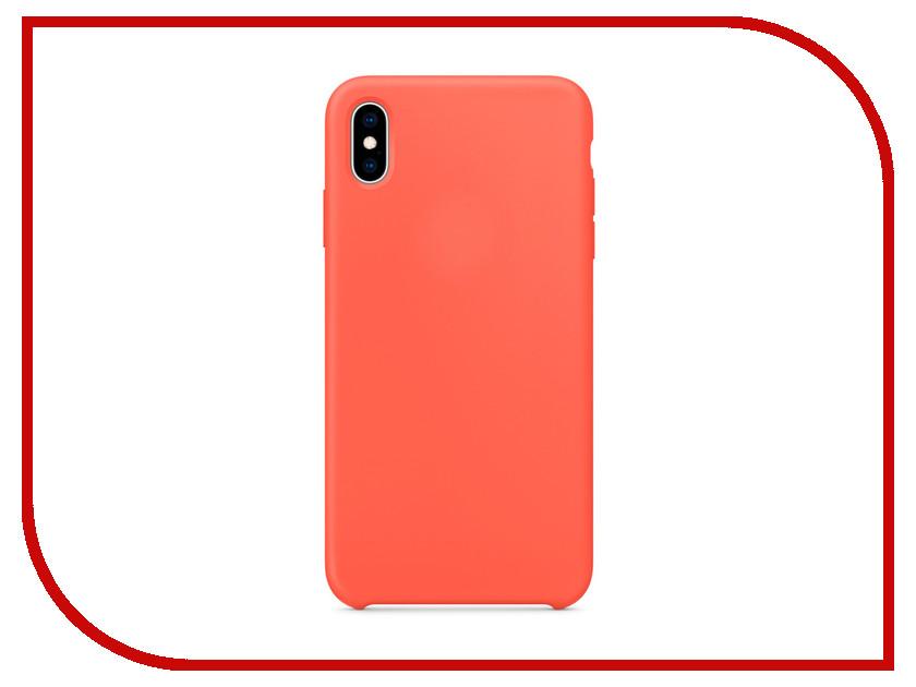 Аксессуар Чехол APPLE iPhone XS Max Silicone Case Nectarine MTFF2ZM/A аксессуар чехол apple iphone xs leather case black mrwm2zm a