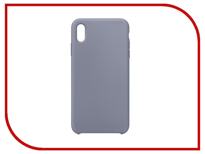 Аксессуар Чехол APPLE iPhone XS Max Silicone Case Lavender Gray MTFH2ZM/A apple leather case mkxe2zm a rose gray