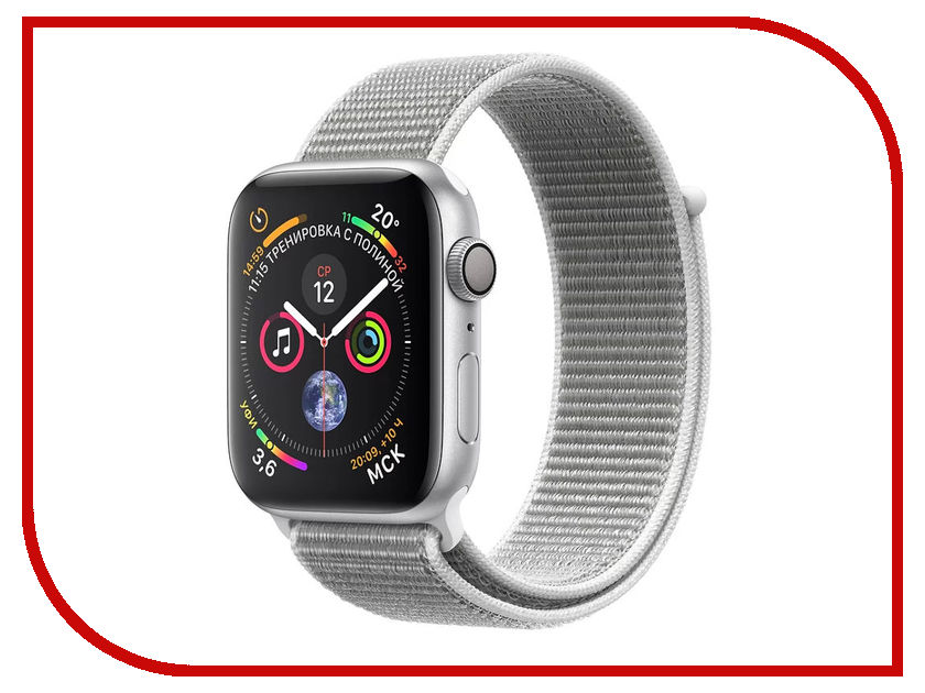 Умные часы APPLE Watch Series 4 40mm Silver Aluminium Case with Seashell Sport Loop MU652RU/A waterproof sport watch with cree led flashlight and compass