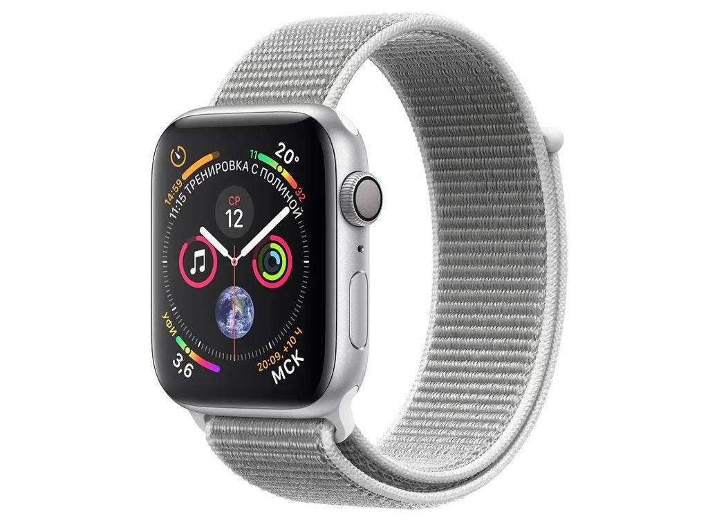 Умные часы APPLEWatch Series4 40mm Silver Aluminium Case with Seashell Sport Loop MU652RU/A puma watch unlimited series of quartz electronic movement male watch pu911261001 pu103461002 pu103461015 pu103931001 pu910541016