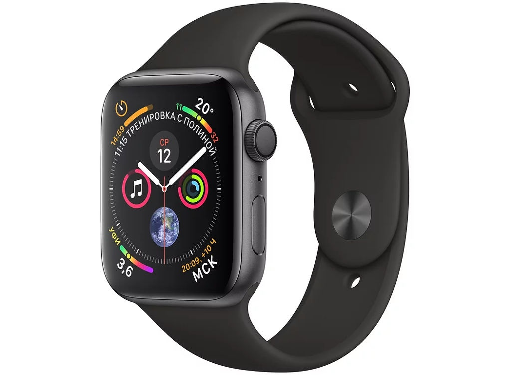 Умные часы APPLE Watch Series 4 44mm Space Grey Aluminium Case with Black Sport Band MU6D2RU/A sinobi classic men women quartz watch rectangle case stainless steel band analog concise crystal dial reloj hombre montre homme
