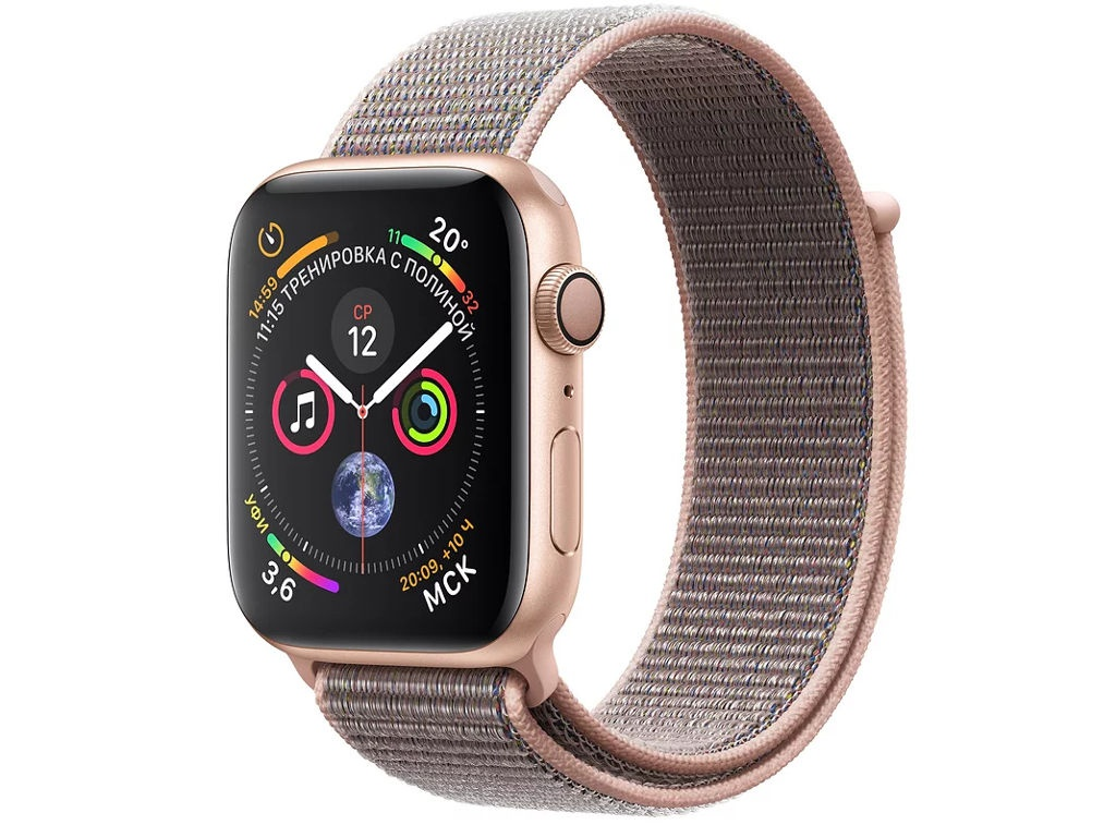 Умные часы APPLE Watch Series 4 44mm Gold Aluminium Case with Pink Sand Sport Loop MU6G2RU/A man mechanical pocket watch roman classic fob watches horse retro vintage gold ipg plating copper brass case good quality hour