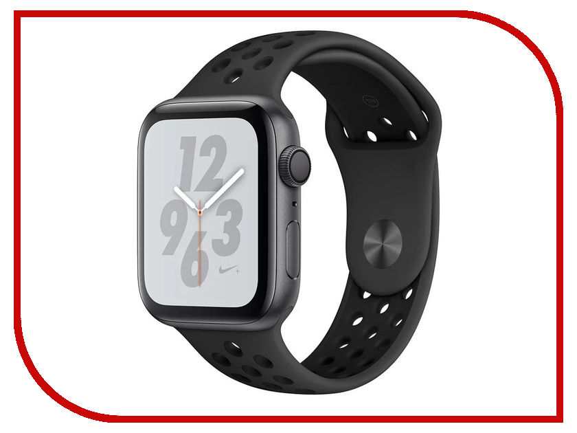 Умные часы APPLE Watch Nike+ Series 4 40mm Space Grey Aluminium Case with Anthracite-Black Nike Sport Band MU6J2RU/A eyki nbw0me7211 self winding mechanical skeleton genuine leather band wrist watch black