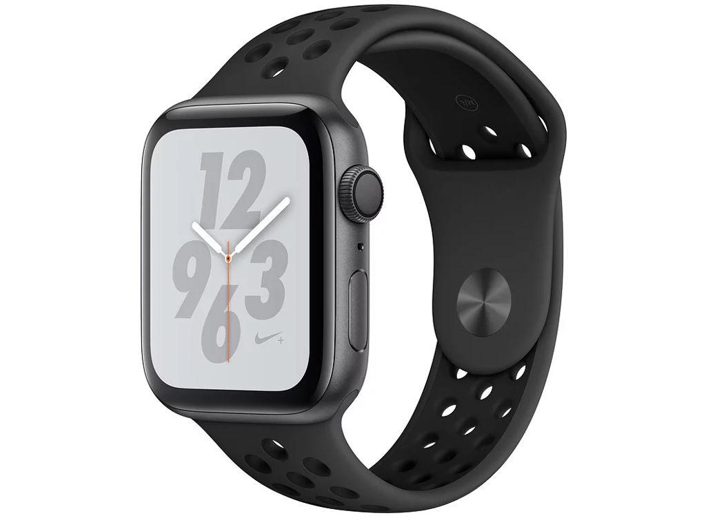 Умные часы APPLE Watch Nike+ Series 4 44mm Space Grey Aluminium Case with Anthracite-Black Nike Sport Band MU6L2RU/A часы apple watch series 4 gps 44 mm gold aluminium case with pink sand sport band mu6f2ru a
