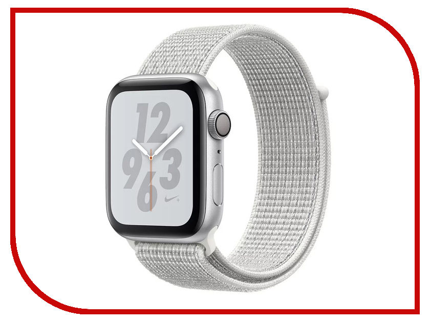 Умные часы APPLE Watch Nike+ Series 4 40mm Silver Aluminium Case with Summit White Nike Sport Loop MU7F2RU/A стоимость