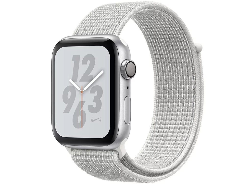 Умные часы APPLE Watch Nike+ Series 4 44mm Silver Aluminium Case with Summit White Nike Sport Loop MU7H2RU/A