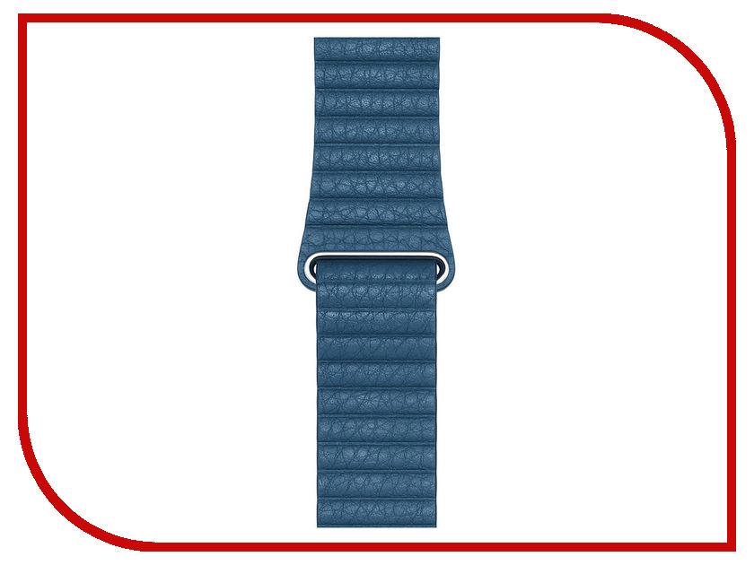 Аксессуар Ремешок APPLE Watch 44mm Leather Loop Medium Cape Cod Blue MTH92ZM/A