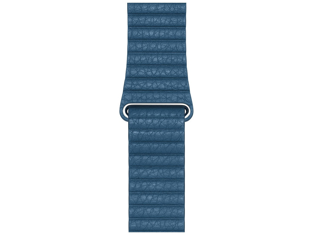 Аксессуар Ремешок APPLE Watch 44mm Leather Loop Large Cape Cod Blue MTHA2ZM/A genuine leather loop watchband for apple watch leather loop band with magnetic closure for iwatch milanese loop