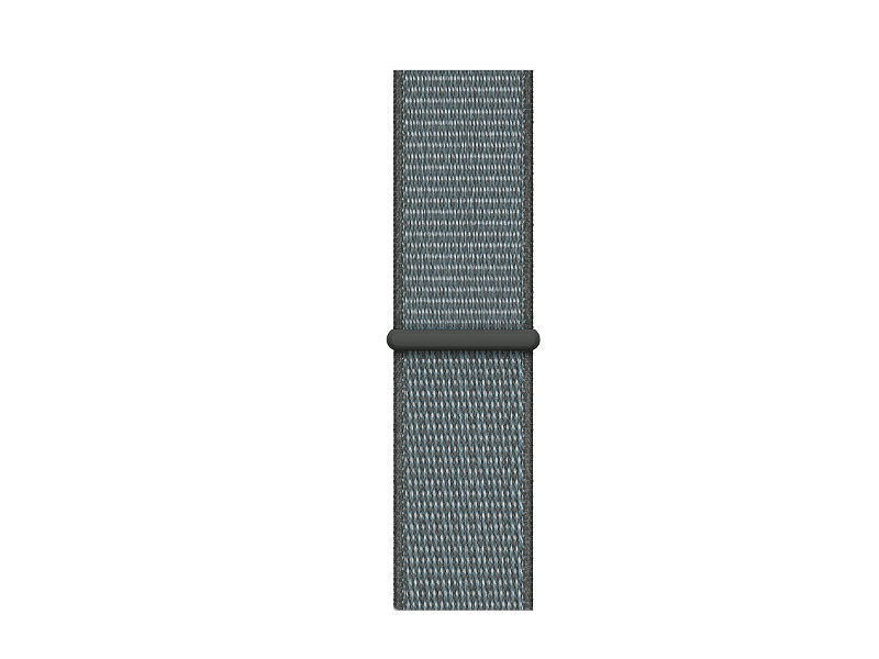 Аксессуар Ремешок APPLE Watch 40mm Sport Loop Storm Gray MTM02ZM/A аксессуар ремешок apple watch 40mm sport band s m m l midnight blue mtph2zm a