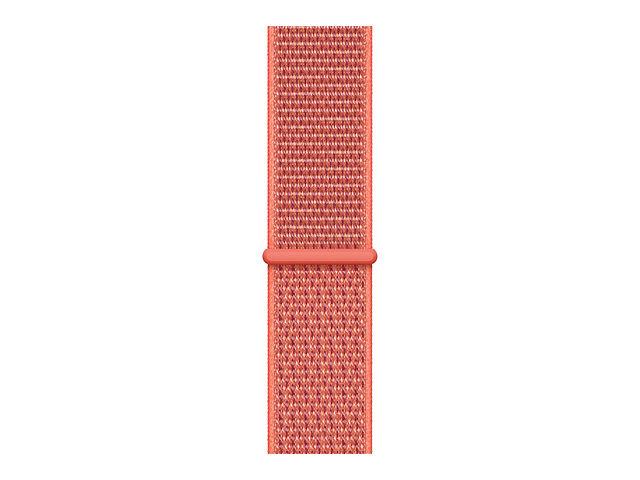 Аксессуар Ремешок APPLE Watch 44mm Sport Loop Nectarine MTMC2ZM/A genuine leather loop watchband for apple watch leather loop band with magnetic closure for iwatch milanese loop
