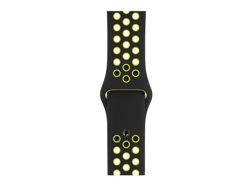 Аксессуар Ремешок APPLE Watch 40mm Nike Sport Band S/M - M/L Black-Volt MTMN2ZM/A unisex s fashion skull pattern zinc alloy case pu band analog quartz wrist watch black 1 x 377