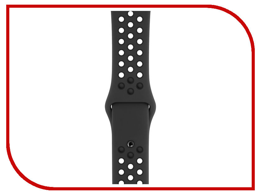 Аксессуар Ремешок APPLE Watch 44mm Nike Sport Band S/M - M/L Anthracite-Black MTMX2ZM/A 18mm 19mm 20mm 21mm 22mm 24mm watch band mens stainless steel band silver gold black watch bracelet strap deployment clasp