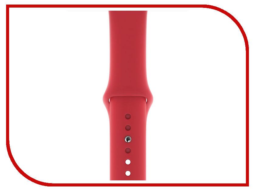 Аксессуар Ремешок APPLE Watch 44mm Sport Band S/M - M/L Product Red MU9N2ZM/A ремешок apple sport nylon band для watch 40 мм черный