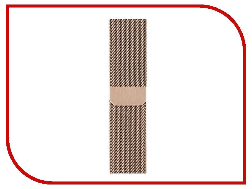 Аксессуар Ремешок APPLE Watch 40mm Milanese Loop Gold MTU42ZM/A ремешок apple sport loop для watch 38 мм желтый неон