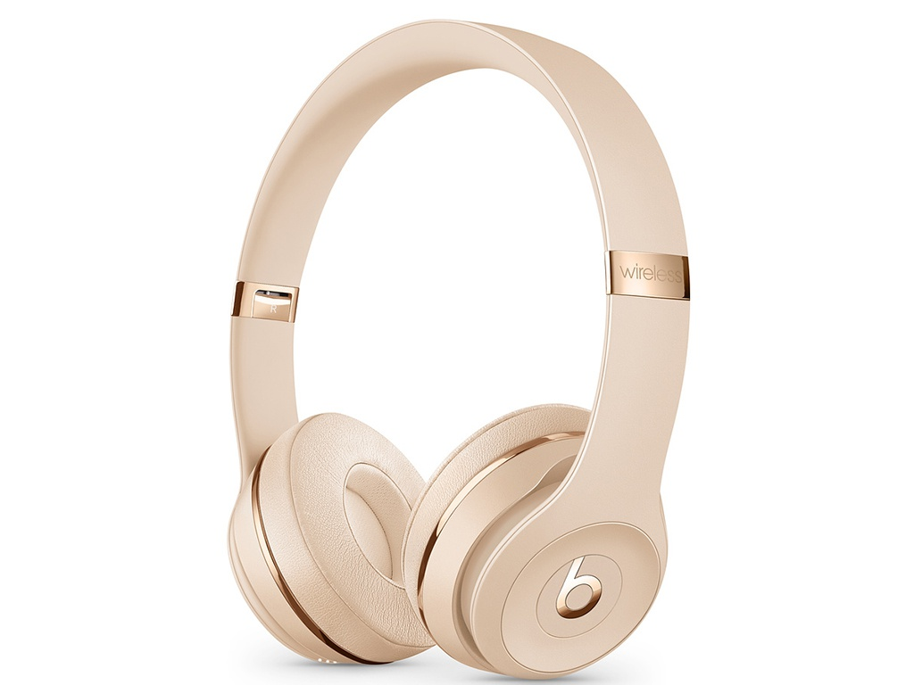 Beats Solo3 Wireless Satin Gold MUH42EE/A beats solo3 wireless headphones silver mneq2ee a