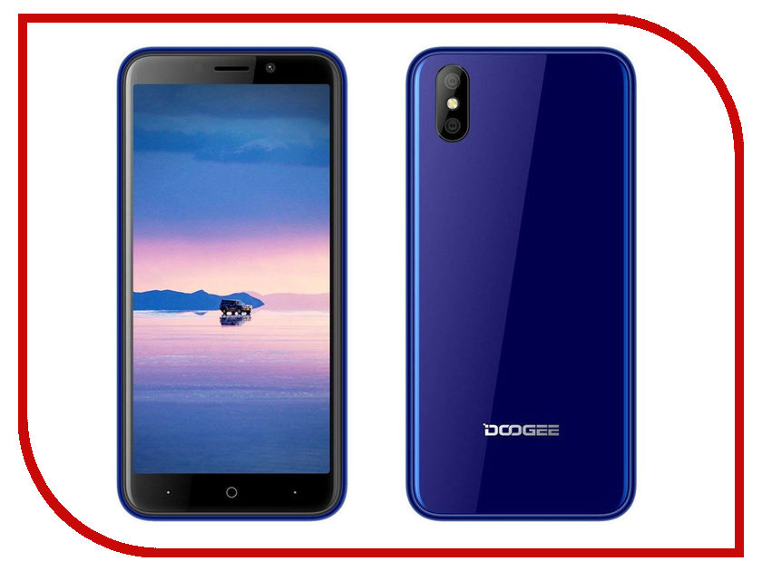 Сотовый телефон DOOGEE X50L Blue leather case embossed litchi pattern for doogee x5 max blue