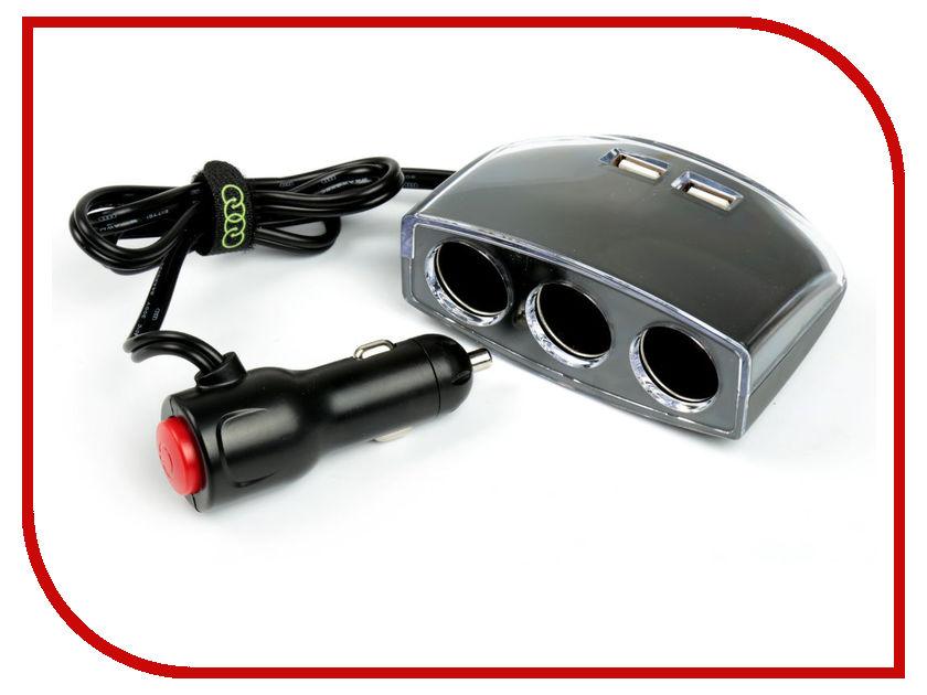 Разветвитель СИМА-ЛЕНД 3130966 Black компас с термометром автомобильный сима ленд black 3130955