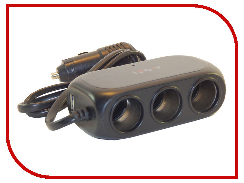 Разветвитель СИМА-ЛЕНД 3130972 Black компас с термометром автомобильный сима ленд black 3130955