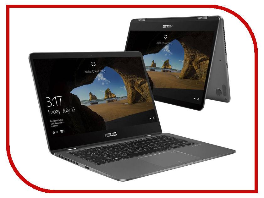 Ноутбук ASUS Zenbook Flip UX461UA-E1155T Slate Grey 90NB0GG1-M03160 (Intel Core i5-8250U 1.6 GHz/8192Mb/512Gb SSD/Intel HD Graphics/Wi-Fi/Bluetooth/Cam/14.0/1920x1080/Touchscreen/Windows 10 Home 64-bit)